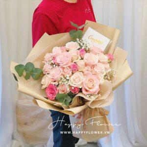 PINK BIRTHDAY BABY – SUPER SIZE ( giấy cafe)