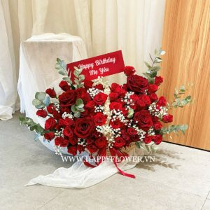GIỎ MÂY RED ROSE