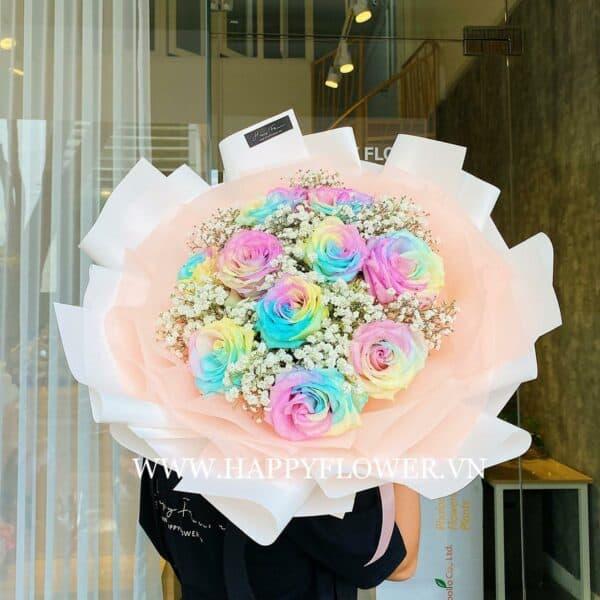 HAPPY ANNI FANCY CAKE 10B MIX BABY (giấy trắng)