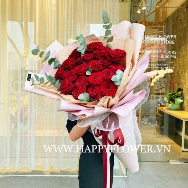 LOVE RED ECUADOR 20B (giấy hồng ruốc)