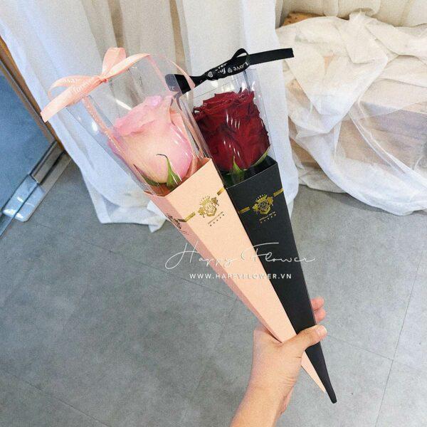 ECUADOR SINGLE ICE CREAM – HOA HỒNG (giấy hồng)