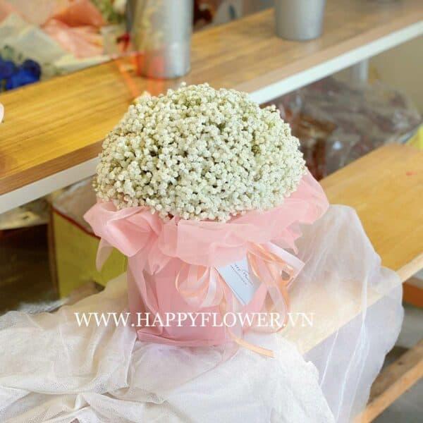 LOVELY BOX MIX BABY WHITE (giấy voan hồng)