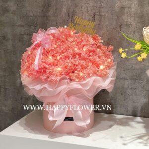 HỘP CẨM TÚ CẦU KHÔ – HỒNG MIX ĐÈN LED (hộp hồng, big size)