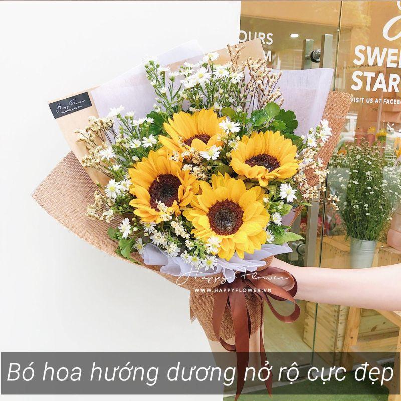 bó hoa hướng dương 4 bông