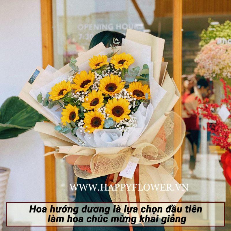bó hoa hướng dương size trung