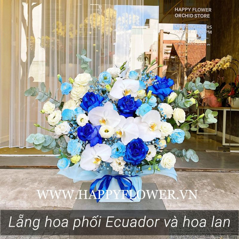 kệ hoa hồng xanh