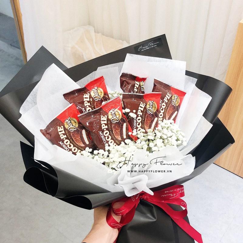 bó hoa ăn được kitkat