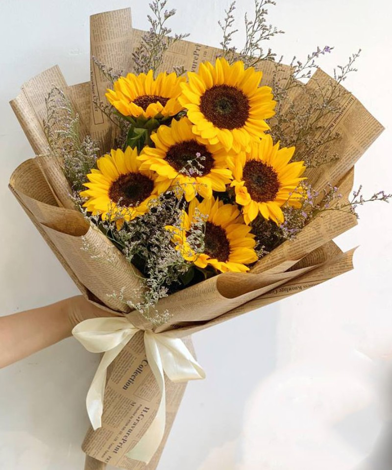 bó hoa hướng dương