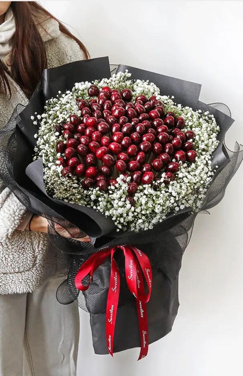 bó hoa cherry