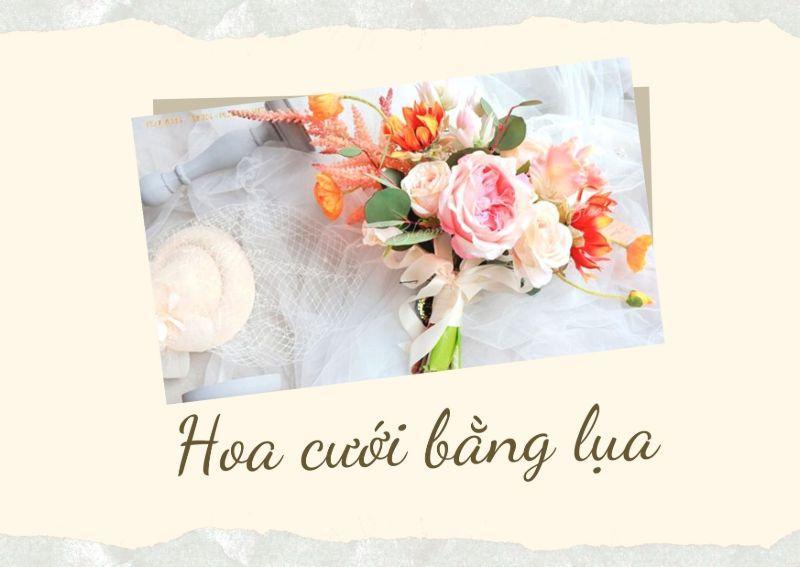hoa cưới bằng lụa