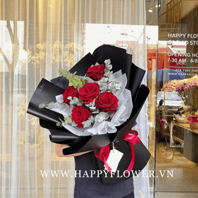 Bó hoa hồng đỏ Ecuador