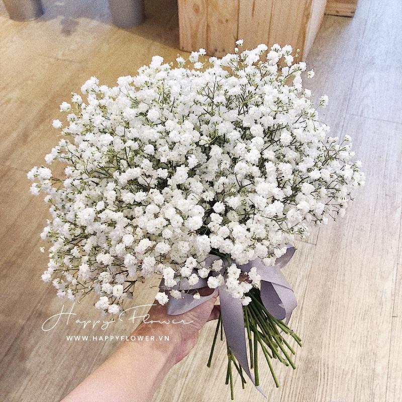 bó hoa cưới baby trắng đẹp tinh tế
