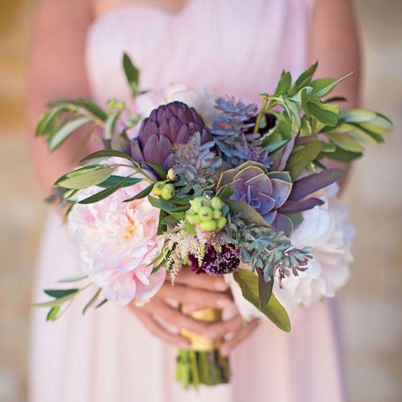 hoa cưới từ sen đá