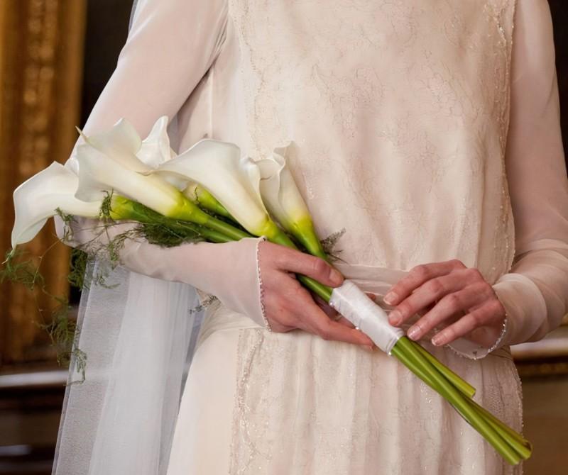 Bó hoa loa kèn mang vẻ đẹp thuần khiết