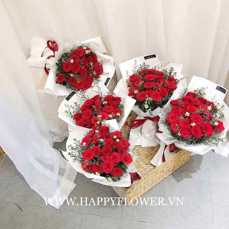 bó hoa hồng đỏ thích hợp tặng người yêu