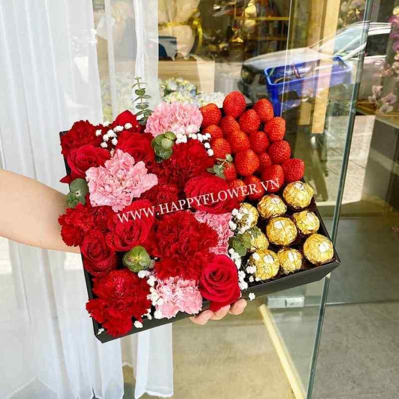 hộp hoa trái cây ăn được