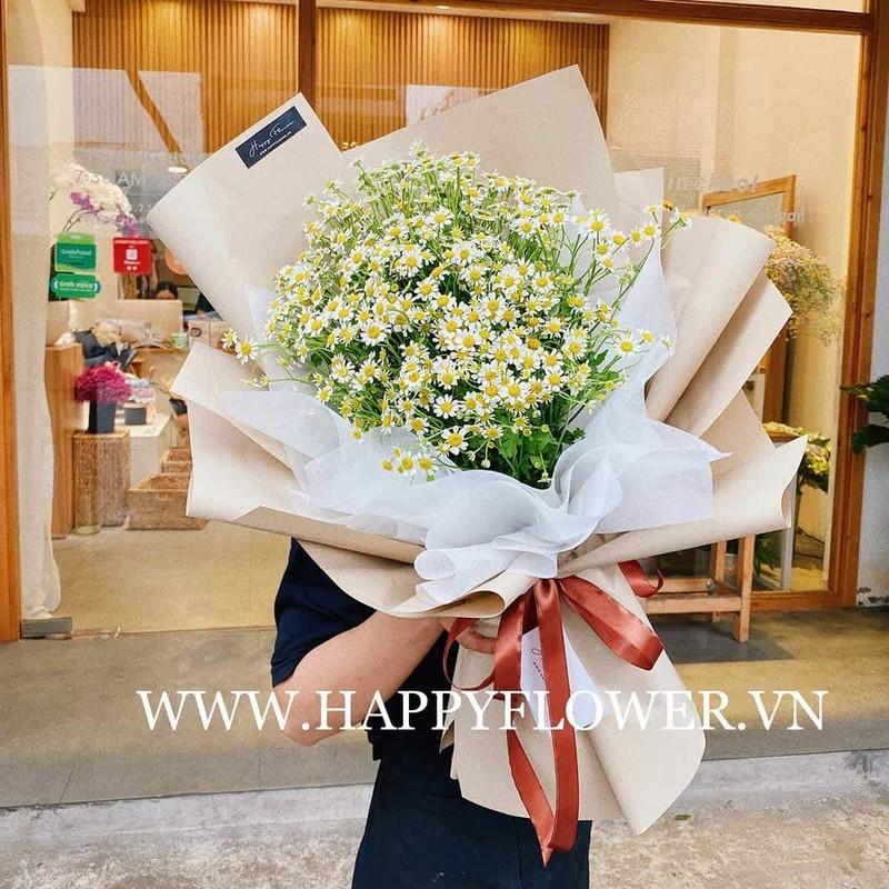 Bó hoa sinh nhật cúc tana khổng lồ đơn giản