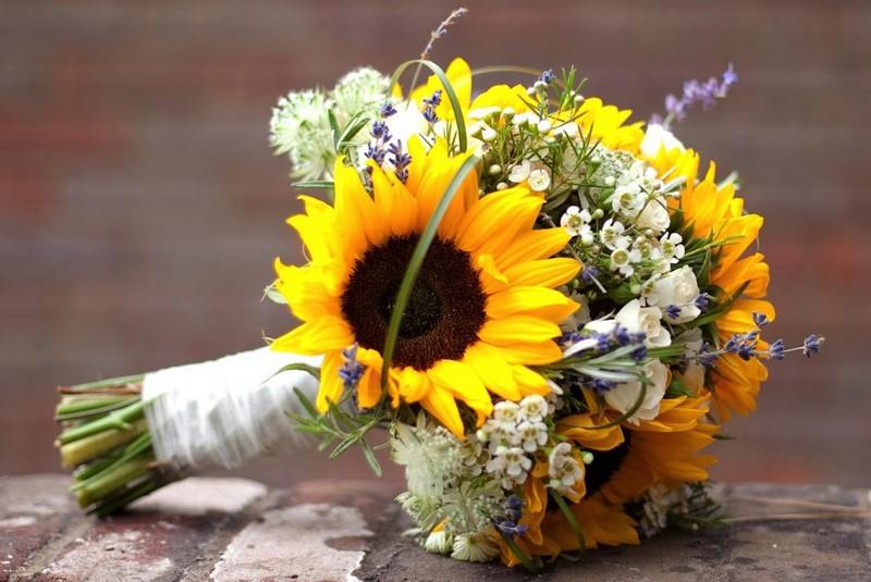 bó hoa hướng dương cưới xinh đẹp