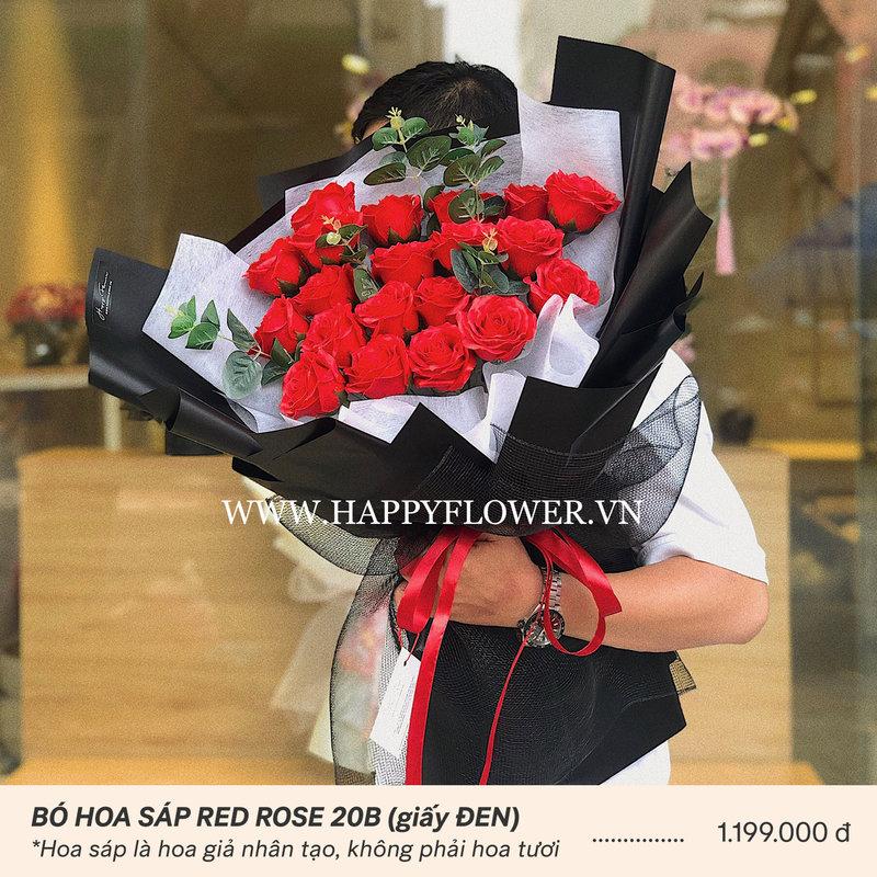 bó hoa hồng sáp vĩnh cữu