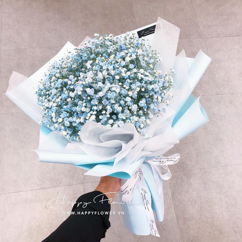 bó hoa baby màu xanh lam của biển