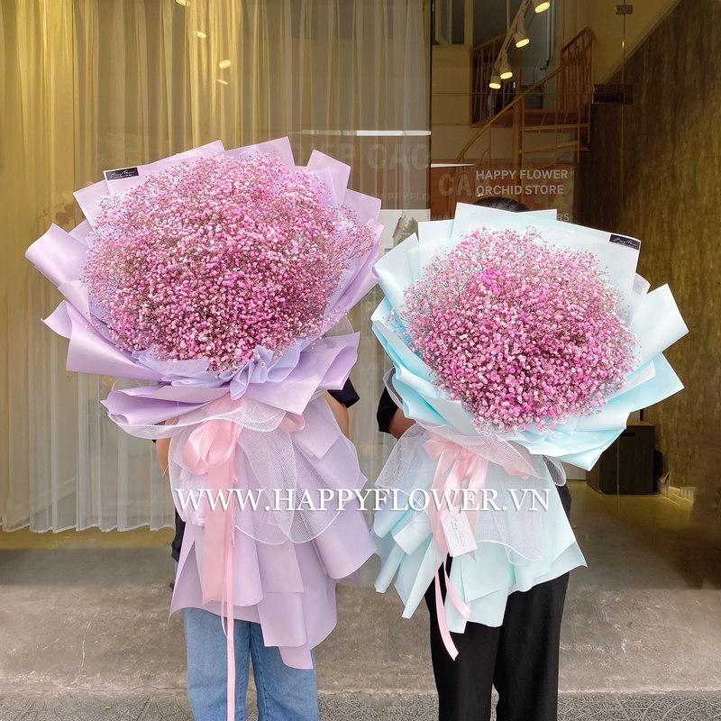 bó hoa baby hồng giá bao nhiêu