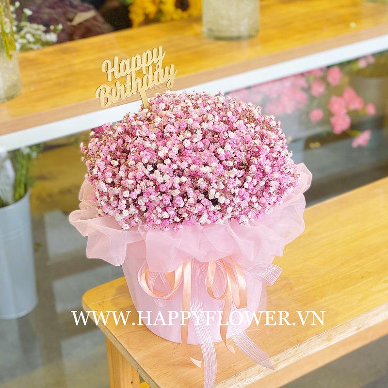 hộp hoa baby hồng giá bao nhiêu