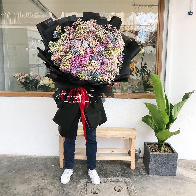 bó hoa baby cầu vồng giá bao nhiêu