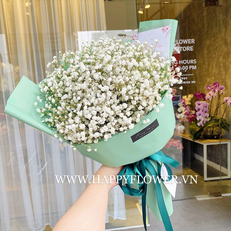 bó hoa baby trắng giá bao nhiêu