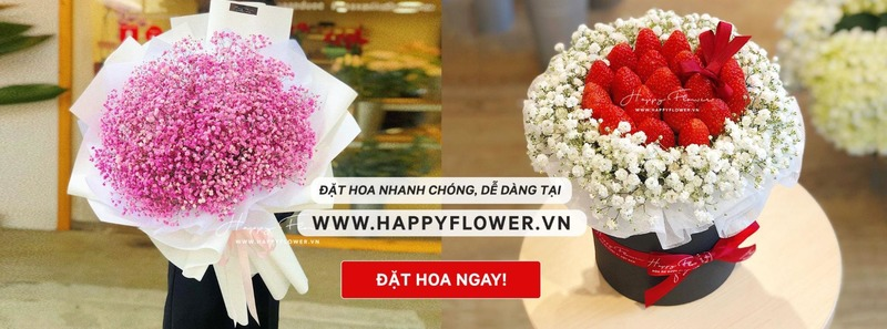 Liên hệ đặt mua hoa chúc mừng tại Happy Flower