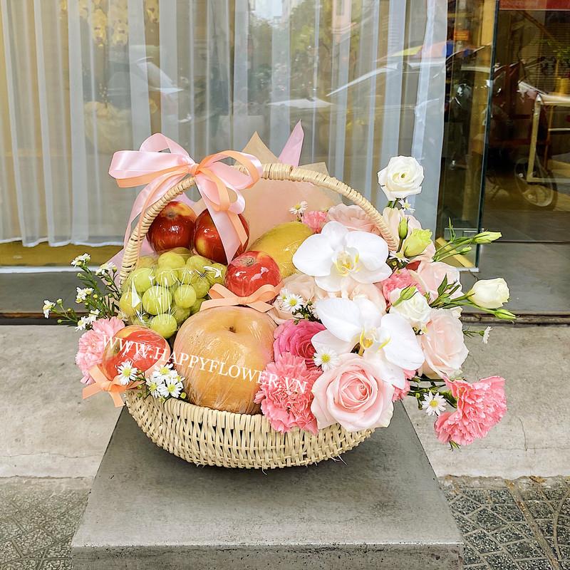 Giỏ hoa mix các loại trái cây nhập khẩu