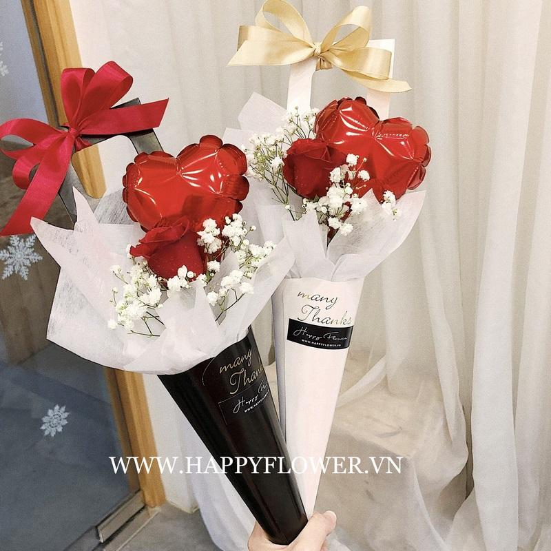 hoa hồng đỏ chúc mừng giáng sinh