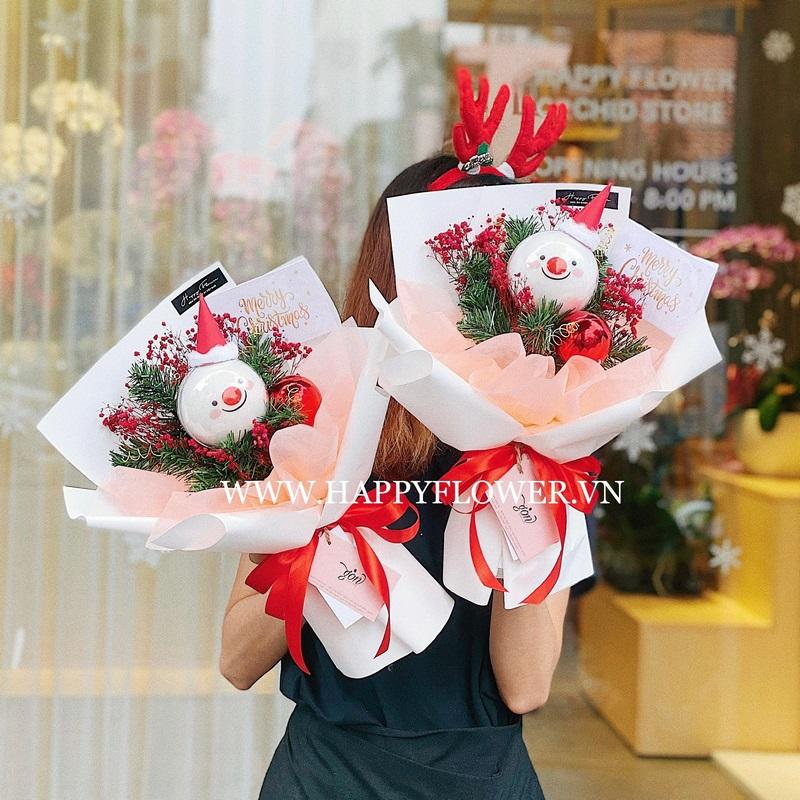bó hoa kẹo bông mix đào đông