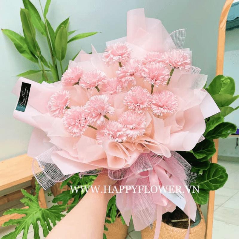 bó hoa Cẩm Chướng hồng ngọt ngào