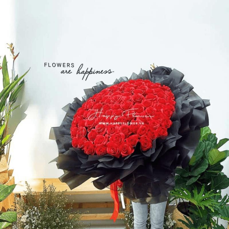 Bó hoa hồng đỏ lớn gửi tắng đến mẹ