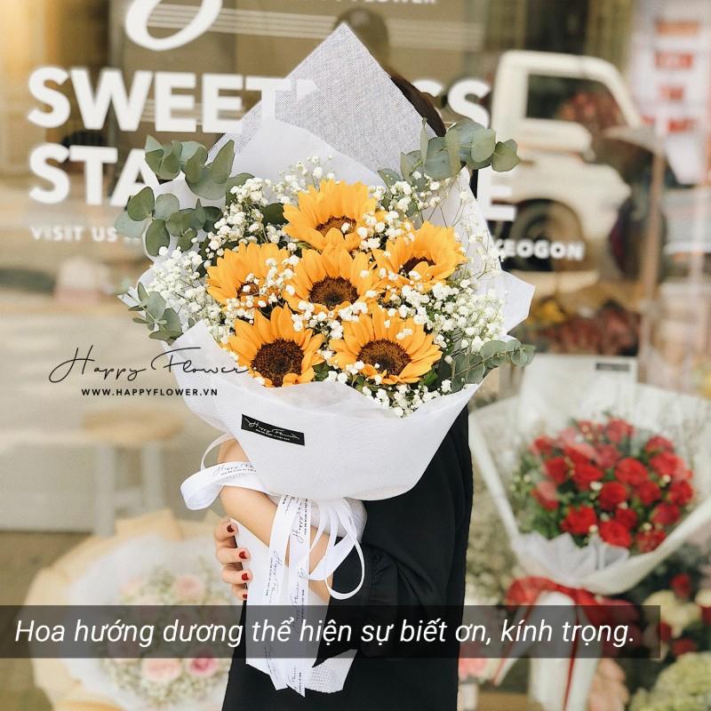 bó hoa hướng dương vàng rực rỡ