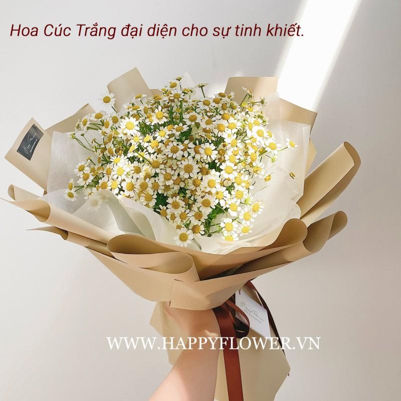 bó hoa cúc trắng đẹp tinh khiết