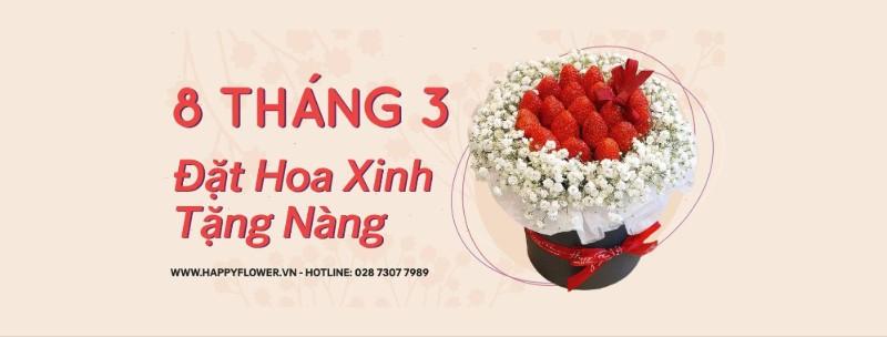liên hệ đặt mua hoa tại Happy Flower
