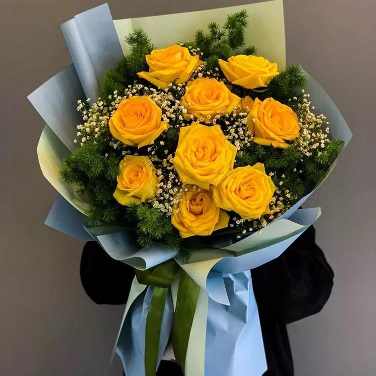 Hoa hồng vàng sang trọng