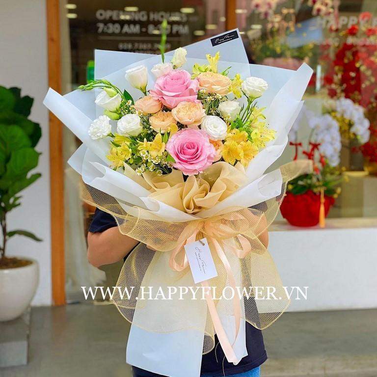 Đóa hoa hồng đầy màu sắc tuyệt đẹp