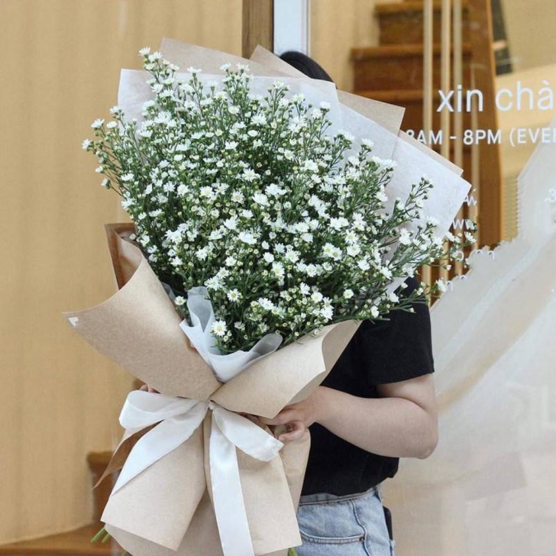 bó hoa thạch thảo trắng chúc mừng sinh nhật