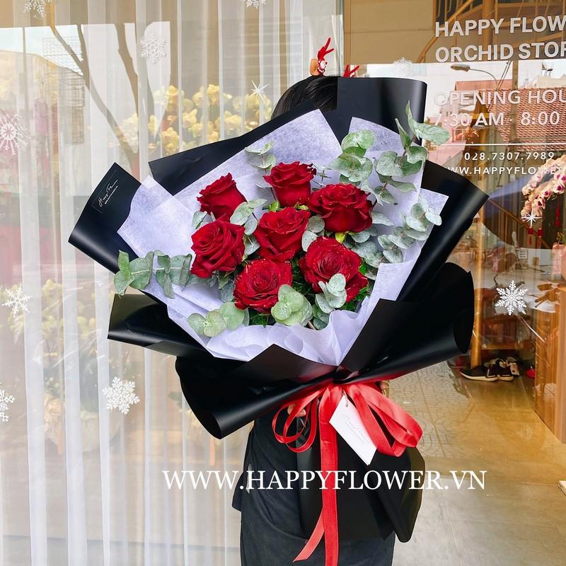 bó hoa hồng đỏ chúc mừng sinh nhật bố