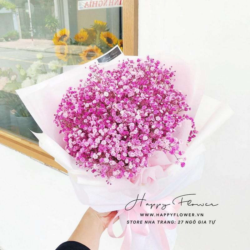 Chúc mừng sinh nhật chị bằng hoa Baby
