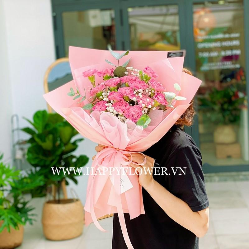 Hoa cẩm hướng màu hồng tặng sinh nhật