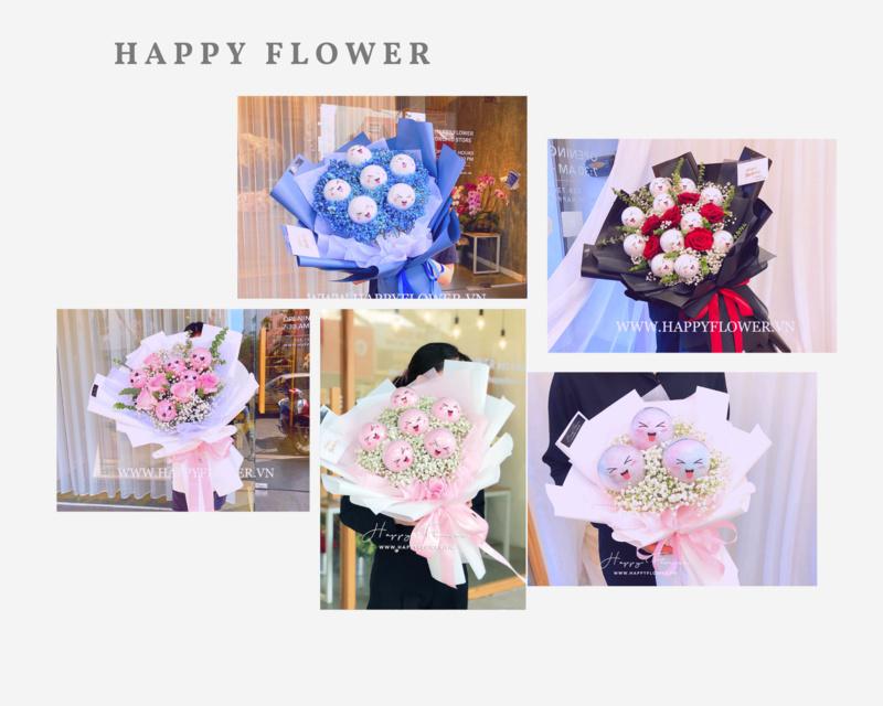 Các mẫu hoa kẹo bông gòn chúc mừng sinh nhật con gái