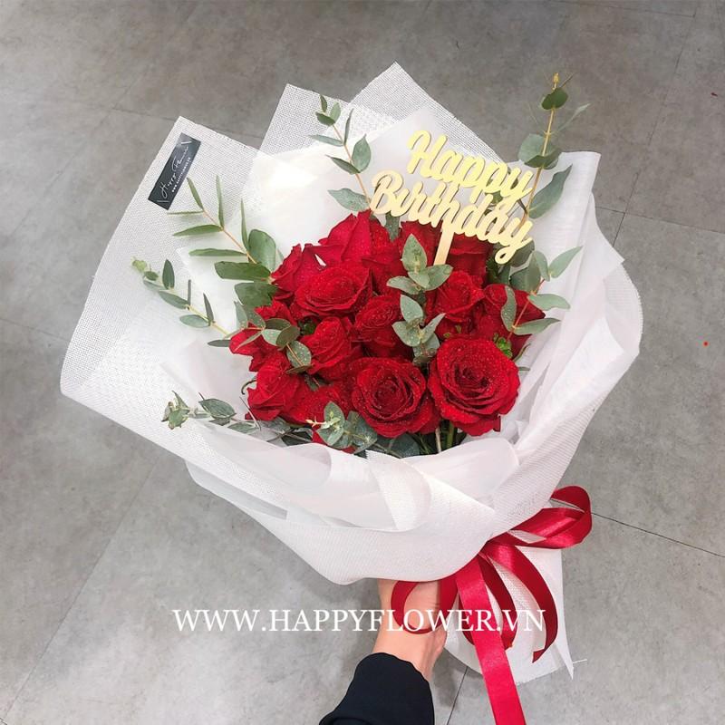 Bó hoa hồng đỏ chúc mừng sinh nhật