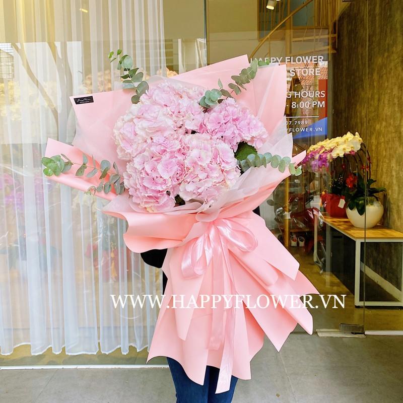 Cẩm tú cầu màu hồng đẹp độc lạ