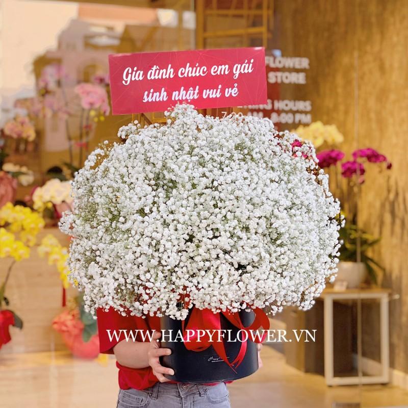 Hoa baby trắng chúc mừng sinh nhật em gái tuyệt đẹp