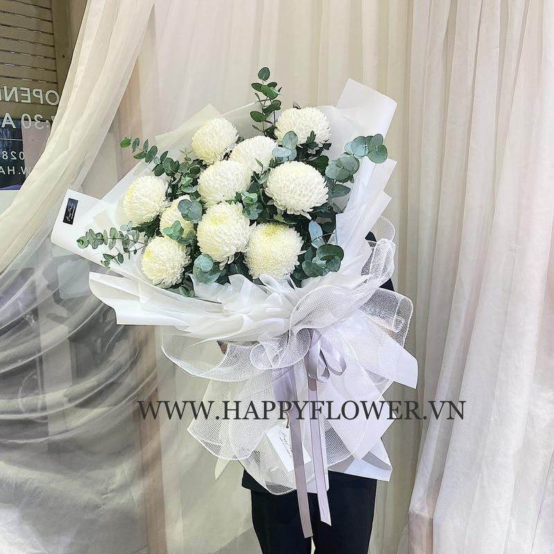 bó hoa cúc trắng tuyệt đẹp chúc mừng sinh nhật mẹ