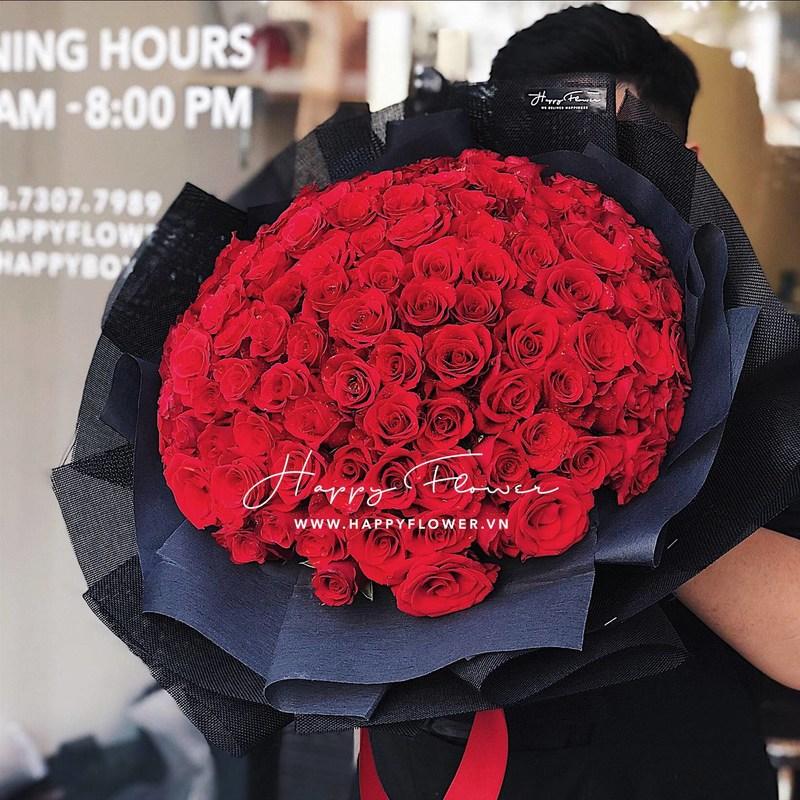 bó hoa hồng đỏ hoa chúc mừng sinh nhật người yêu