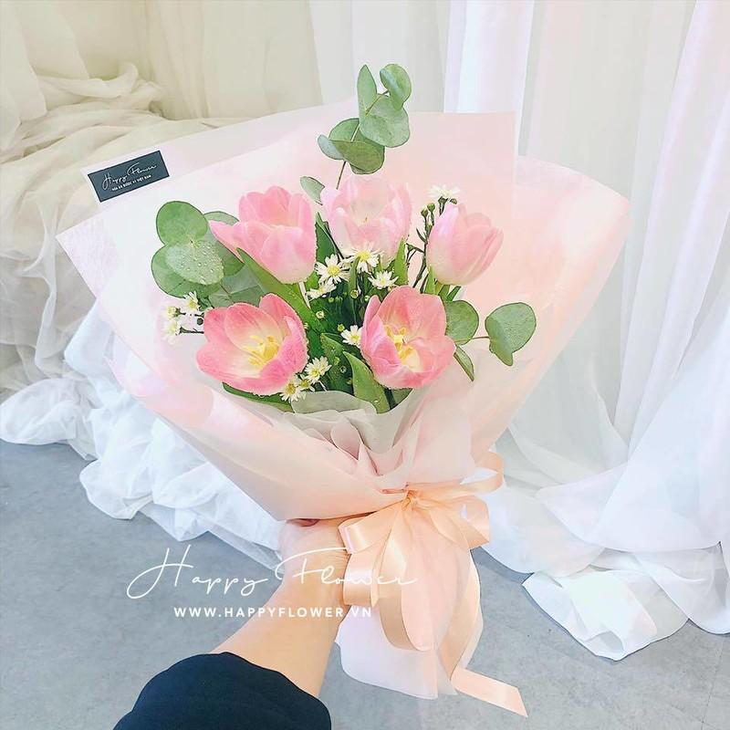 bó hoa tulip hoa chúc mừng sinh nhật người yêu